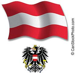austria textured wavy flag vector