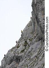 Austria tourists climbing - Austria the tourists climbing...