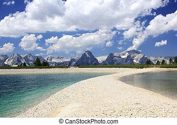 Austria two lakes in the mountains - Austria mountains...