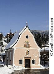Austria, Tyrol, Johannes-Nepomuk-Chapel in Fieberbrunn