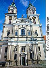 austria, upper austria, st. florian. exterior view of the collegiate church