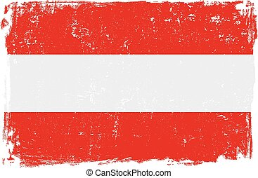 Austria Vector Flag on White