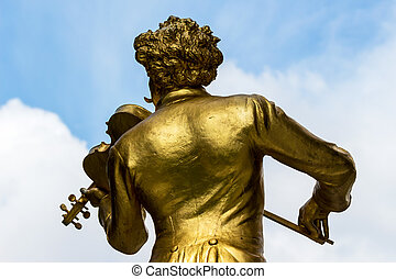 austria, vienna, johann strauss monument - the johann...