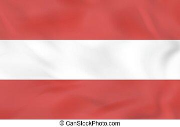 Austria waving flag. Austria national flag background texture.