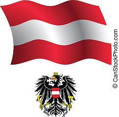austria wavy flag and coat