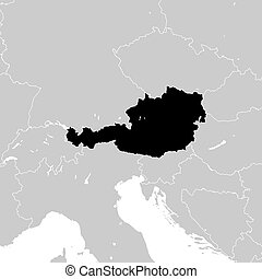 Austria with neighboring European countries