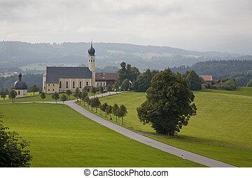 austriaco, chiesa, a, estate