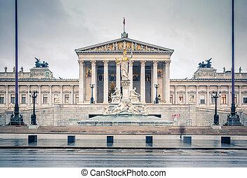 austrian, 議會, 在, 維也納