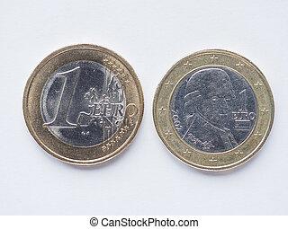 Austrian 1 Euro coin