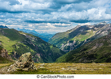 Austrian Alps - Grossglockner High Alpine Road. Austria....