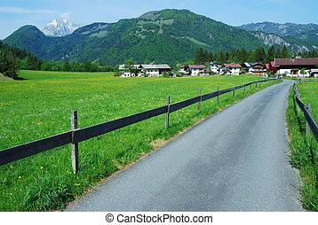 Austrian Alps - Mountain landscape in the alps of Austria