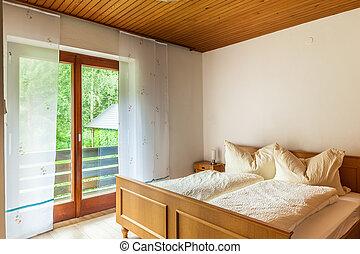 Austrian bedroom - a cozy bed and breakfast or hotel bedroom...