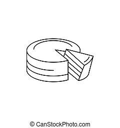 Austrian cake icon, outline style