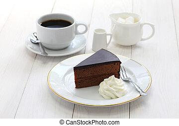 Austrian chocolate cake - homemade sachertorte, Austrian...