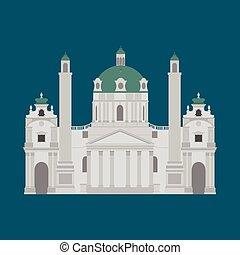 Austrian City sights in Vienna. Austria Landmark Travel And...