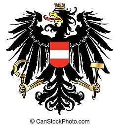 Austrian Coat of Arms - The Austrian coat of arms over a...