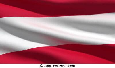 Austrian flag, 3d animation. perfect seamless loop