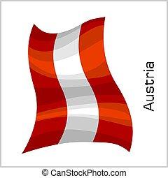 Austrian flag, flag of Austria vector illustration