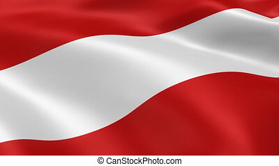 Austrian flag in the wind. Part of a series.