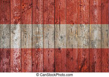 austrian flag on old wooden background