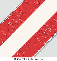 Austrian grunge flag. Vector illustration.