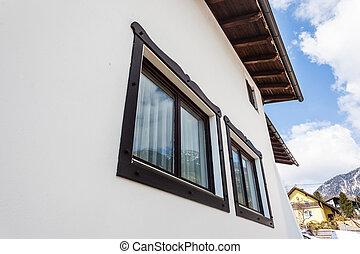 Austrian house windows