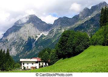 A view of some austrian mountains in Salzkammergut