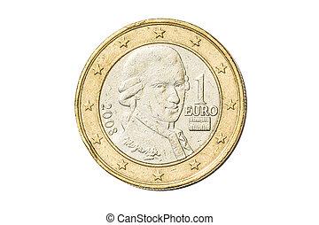 Austrian one euro coin