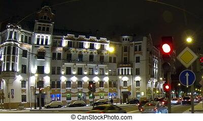 Austrian square in Petersburg Night