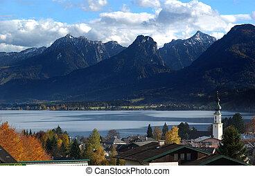 Austrian village in fall