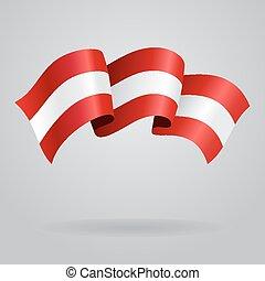 Austrian waving Flag. Vector illustration