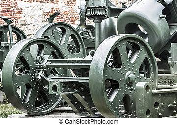 Austro Hungarian WWI Siege Howitzer Skoda 305 mm - Rear View