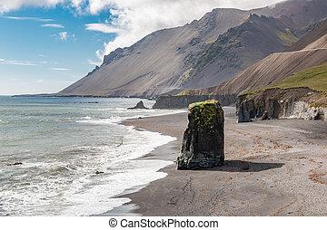 Austurland Black Sand Beach