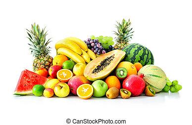 auswahl, von, exotische früchte