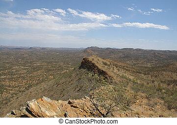 ausztrál, panoráma, outback