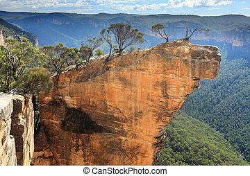 ausztrália, függő, blue hegy, kő