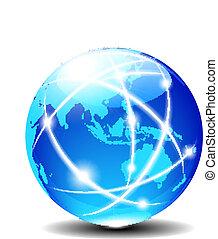 ausztrália, globális, ázsia