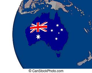 ausztrália, noha, nemzeti lobogó