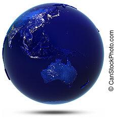 ausztrália, south-east, ázsia, és, oceania