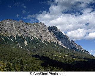 ausztria, hegyek, panoráma