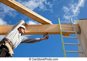 autêntico, trabalhador construção
