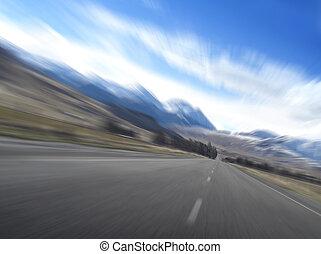 autóút, gyorsaság