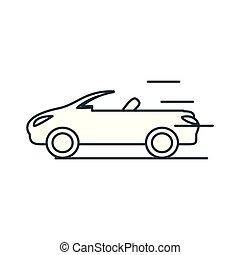 autó, átváltható, elszigetelt, ikon