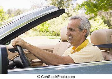 autó, átváltható, mosolyog bábu
