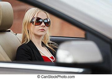 autó, átváltható, nő, fiatal