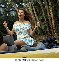 autó, átváltható, nő, meglehetősen