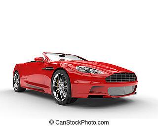 autó, átváltható, piros, sport