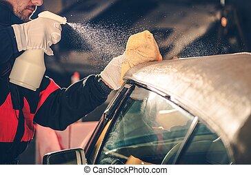 autó, átváltható, takarítás, tető