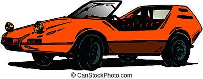 autó, átváltható, vektor