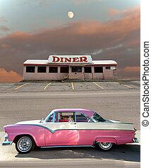 autó, étkezőkocsi, klasszikus